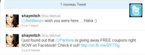 Nouveau Tweet de Shay : )