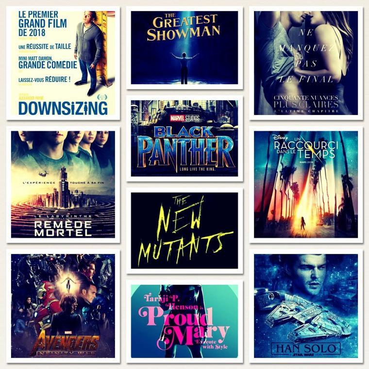 Mon planning cinéma en 2018