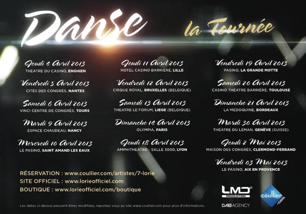 lorie en tournée  2013