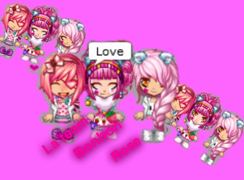 La team -Bonbon rose.♥
