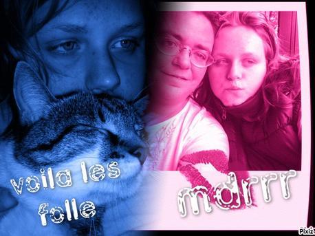 moi ma mére et mon chat :) metez un petit com's trop beau le montage