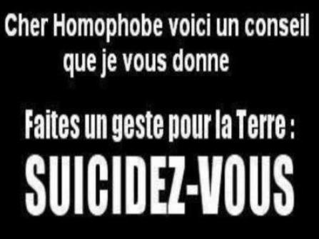 pour tout les homophobe