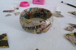 Création : bracelet collage