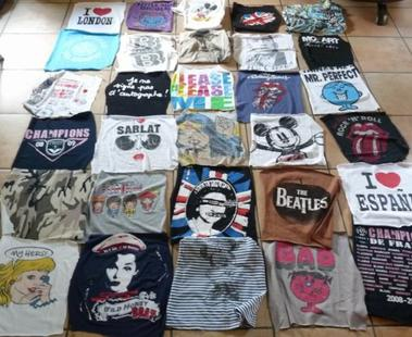 Création ... Couverture patchwork tee-shirts