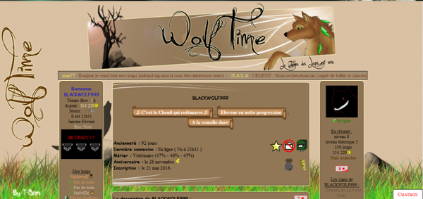 Wolftime, Le Temps des Loups est venu...