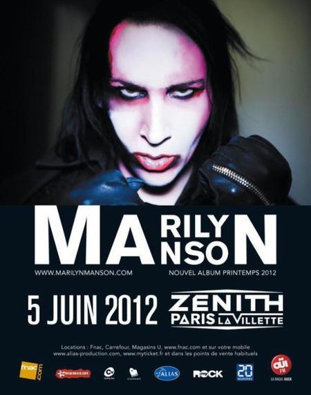 • † Marilyn Manson était au Zenith de Paris † •