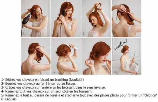 Tuto conseil coiffure pour Mariage ou autre...