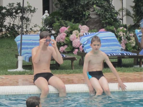 Thomas et Flavien prêt à plonger