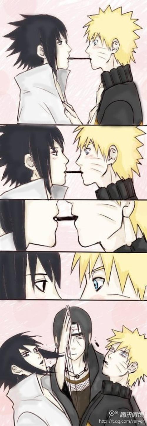 Naruto & Sasuke scene Funny Kiss