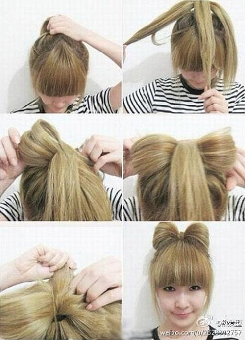 Comment faire un N½ud Papillon avec ces cheveux ;p