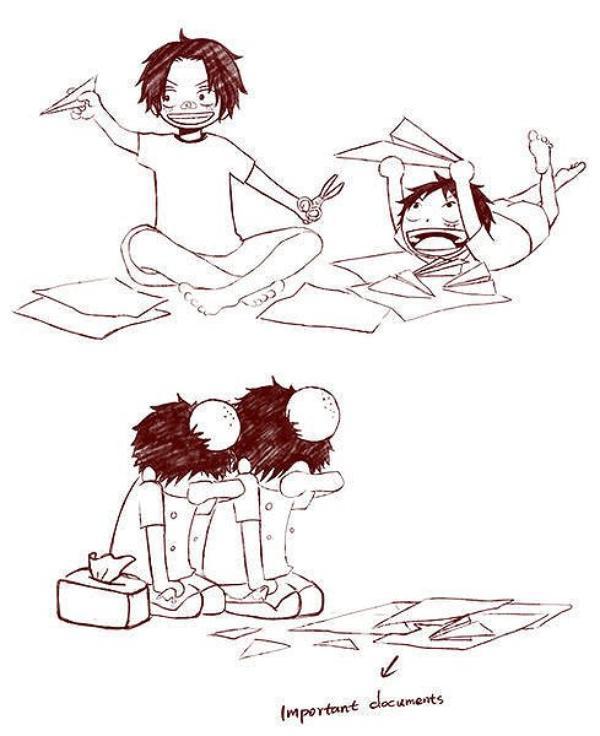De vrai frères xD ~ Luffy & Ace