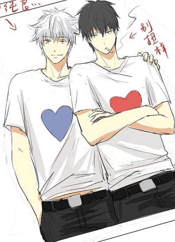 """~ Yaoi Funnyy XD """" J'aime leur tee shirt couple *Q*"""""""