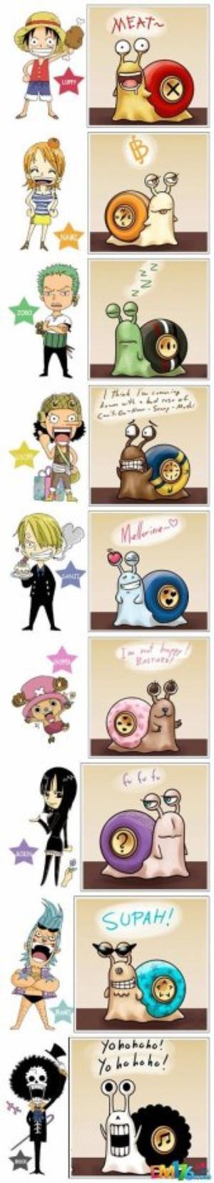 """~ One Piece """"Bon celà varie de la personnalité du personnage xD"""""""