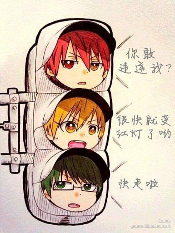 """~ KurokoNoBasuke """"Si les feus étaient comme cela je me ferais une joie de m'arrêté au feu rouge xD"""""""