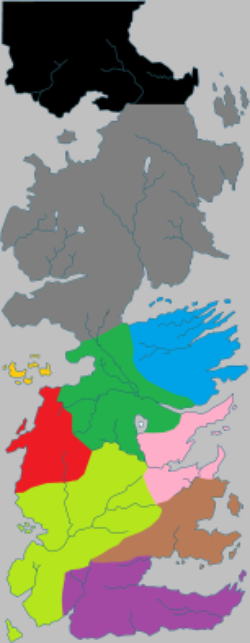 4. A SONG OF ICE AND FIRE - LE TRONE DE FER - Géographie - Le continent Westeros