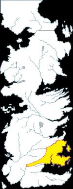 11. A SONG OF ICE AND FIRE - LE TRONE DE FER - Géographie de Westeros : les Terres de l'orage Fief de la maison Barathéon