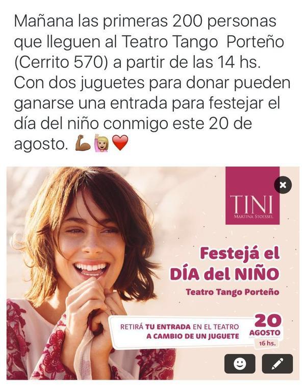 News de Tini le 16/07/2016