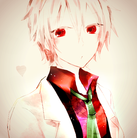 Demande d'images~ : Un garçon albinos (Cheveux blanc/yeux rouge).