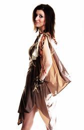 Robe sauvage au couleur de la savane.............Par Queenyla-Création