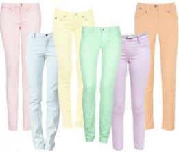 Conseils mode.........Jeans pastel : sélection tendance 2012