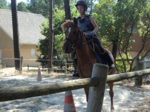 Mon cours d'équitation à Lacanau du 25 juillet