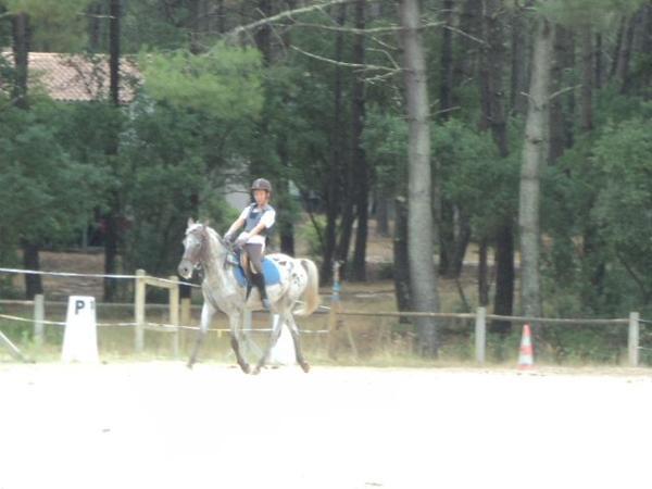 Mon cours d'équitation à Lacanau du 27 juillet