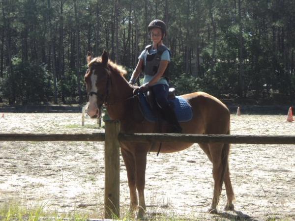 Mon cours d'équitation à Lacanau du 30 juillet