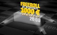 Freeroll 1000 euros Tous mes mercredi à 20H00