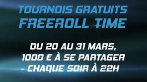Freeroll Time : Du 20 au 31 Mars partagez-vous 1 000 ¤ avec la série de tournois gratuits de PMU Poker