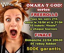 OMAHA Y GOD Series: Envie d'essayer le Omaha ? 6 Freerolls a venir avec Onlinepokerplayer.fr