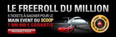 Participez au Freeroll du Million sur Pokerstars.fr