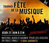 Tournoi Fête de la musique le 21 juin à 21h