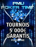 Poker Time sur PMU Poker : 4 freerolls et 20 000 ¤ à se partager !