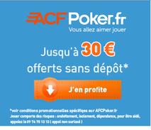 30 euros Offerts et Freeroll à Gogo