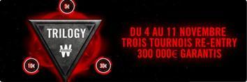 TRILOGY – 300 000¤ GARANTIS sur trois jours sur Winamax.fr