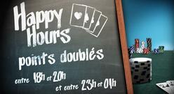 Le Mardi c'est Happy Hour sur PMU Poker ! Le Jeudi et le Samedi aussi!