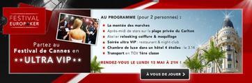 Festival de Cannes 2013 : Un package ULTRA-VIP est a gagner sur EuroPoker.fr