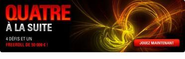 Qualifiez-vous gratuitement pour un Freeroll exceptionnel avec 50 000 ¤ offerts
