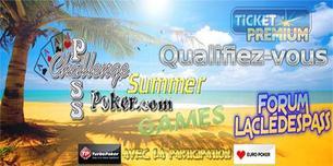"""Challenge Freerolls """"Summer Game"""" sur Challengepasspoker.com"""
