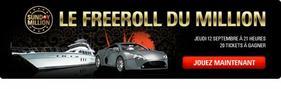 Le Freeroll du Million sur Pokerstars.fr