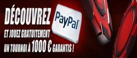 Recevez un ticket pour un tournoi à 1 000 euros garantis grâce à Paypal et TurboPoker