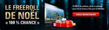 Freeroll de Noël « 100 % Chance » – 10 000 ¤ de cadeaux  le 29 Décembre 2013