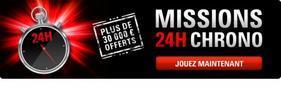 Missions 24H Chrono avec plus de 30 000 ¤ offerts sur PokerStars