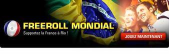 Freeroll Mondial organisé en ligne jeudi 29 mai qui met en jeu un package VIP Mondial
