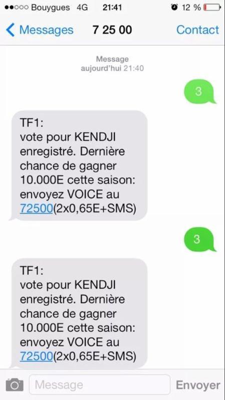 Votez tous pour kendji !!!!!!