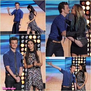 Teen Choice Awards / Lea Michele aux Valspar Hands For Habitat !