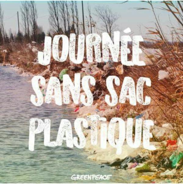 Actualité Greenpeace journée sans plastiqué