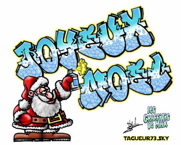 vidéo Graffiti  joyeux noël