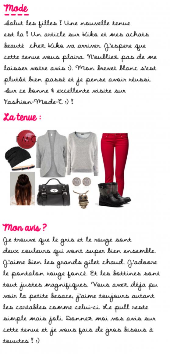 Tenue Look Fashion 9 !