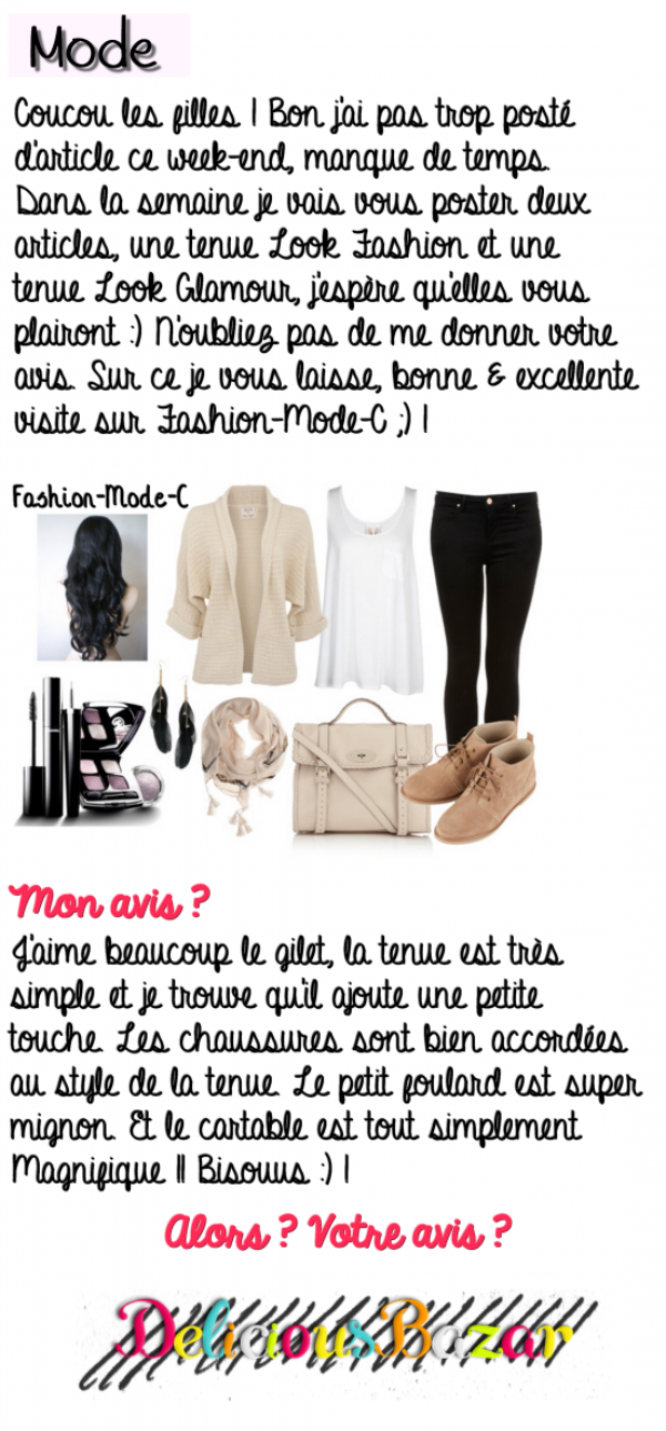 Tenue Look Fashion 11 !